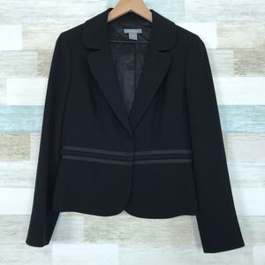 Embroidered Blazer Jacket Black Ann Taylor